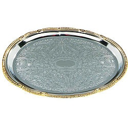 Carlisle Foodservice 18x13-in Oval Chrome Tray