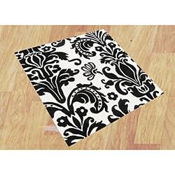 Alliyah Handmade Black New Zealand Blend Wool Rug (6' Square)