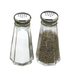 Tablecraft 3-oz Salt and Pepper Shakers (Pack of 12) - Thumbnail 2