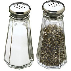 Tablecraft 3-oz Salt and Pepper Shakers (Pack of 12) - Thumbnail 0