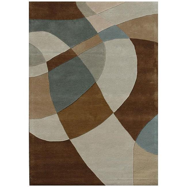 Hand-tufted Geometric Multi Wool Rug (5' x 8')