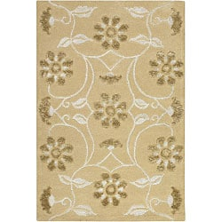 Artist's Loom Hand-tufted Transitional Floral Rug (2' x 3')