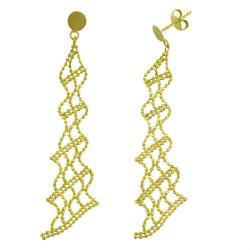 Fremada 14k Yellow Gold Beaded Dangle Earrings