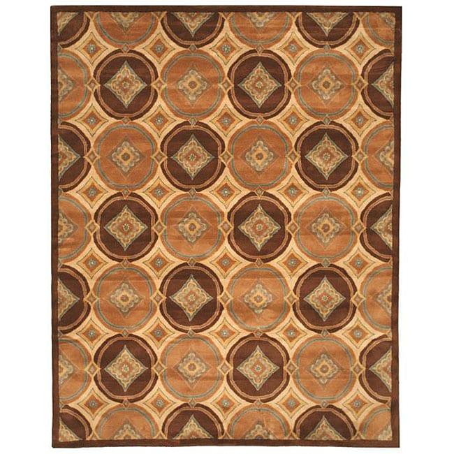 Hand-tufted Ash Brown Wool Rug (7'9 x 9'9)
