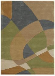 Hand-Tufted Geometric Abstract Multi Wool Rug (8' x 11') - Thumbnail 2