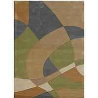 Hand-Tufted Geometric Abstract Multi Wool Rug - 8' x 11'