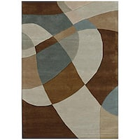 Hand-Tufted Geometric Contemporary Multi Wool Rug - 8' x 11'