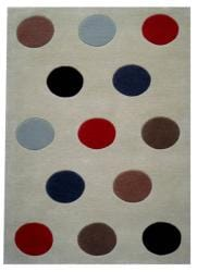 Hand-tufted Multi-color Ball Wool Rug (8' x 11')