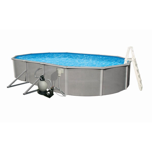 Belize Above Ground 15 X 30 Foot Oval Swimming Pool Package Free Shipping Today Overstock