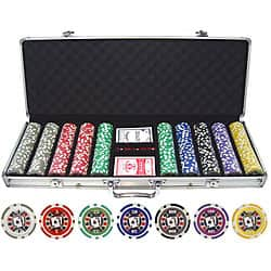 Big Slick 500-piece Poker Chip Set