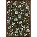 Artist's Loom Hand-tufted Transitional Floral Wool Rug (5'x7'6) - 5'x7'6
