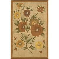 Artist's Loom Handmade Flatweave Transitional Floral Wool Rug - 5'9