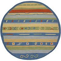 Artist's Loom Handmade Flatweave Country Oriental Wool Rug - 7'9