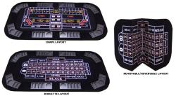 Poker, Craps and Roulette 3-in-1 Folding Table Top - Thumbnail 1