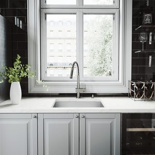 VIGO Top-Quality Undermount Kitchen Sink, Faucet and Dispenser