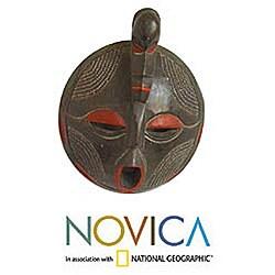 Sese Wood 'Word of Honor' Akan Mask (Ghana)