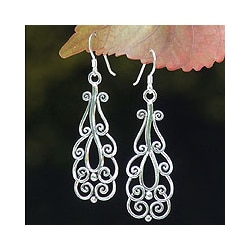 Sterling Silver 'Thai Spark' Dangle Earrings (Thailand)