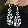 Handmade Sterling Silver 'Thai Spark' Dangle Earrings (Thailand)
