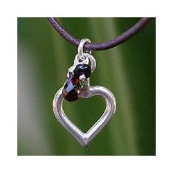 Handmade Sterling Silver 'Life In Love' Garnet Necklace (Thailand)|https://ak1.ostkcdn.com/images/products/4787370/Sterling-Silver-Life-In-Love-Garnet-Necklace-Thailand-P12686142c.jpg?_ostk_perf_=percv&impolicy=medium