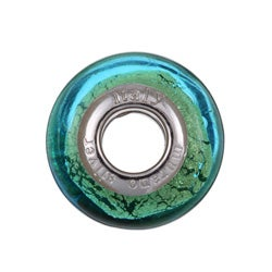 Sterling Essentials Sterling Silver Turquoise Blue Murano Bead - Thumbnail 1