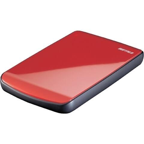 Buffalo MiniStation Cobalt 500 GB Hard Drive - External - Ruby Red