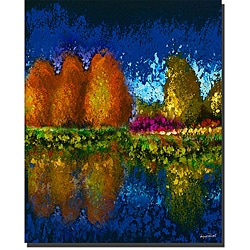 Miguel Paredes 'Lake Placid IV' Canvas Art