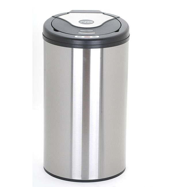 Nine Stars 13.2-gallon Stainless Steel Motion Sensor Trashcan