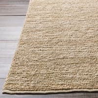 Hand-woven Chapra Bleached Natural Fiber Jute Area Rug - 8' x 11'