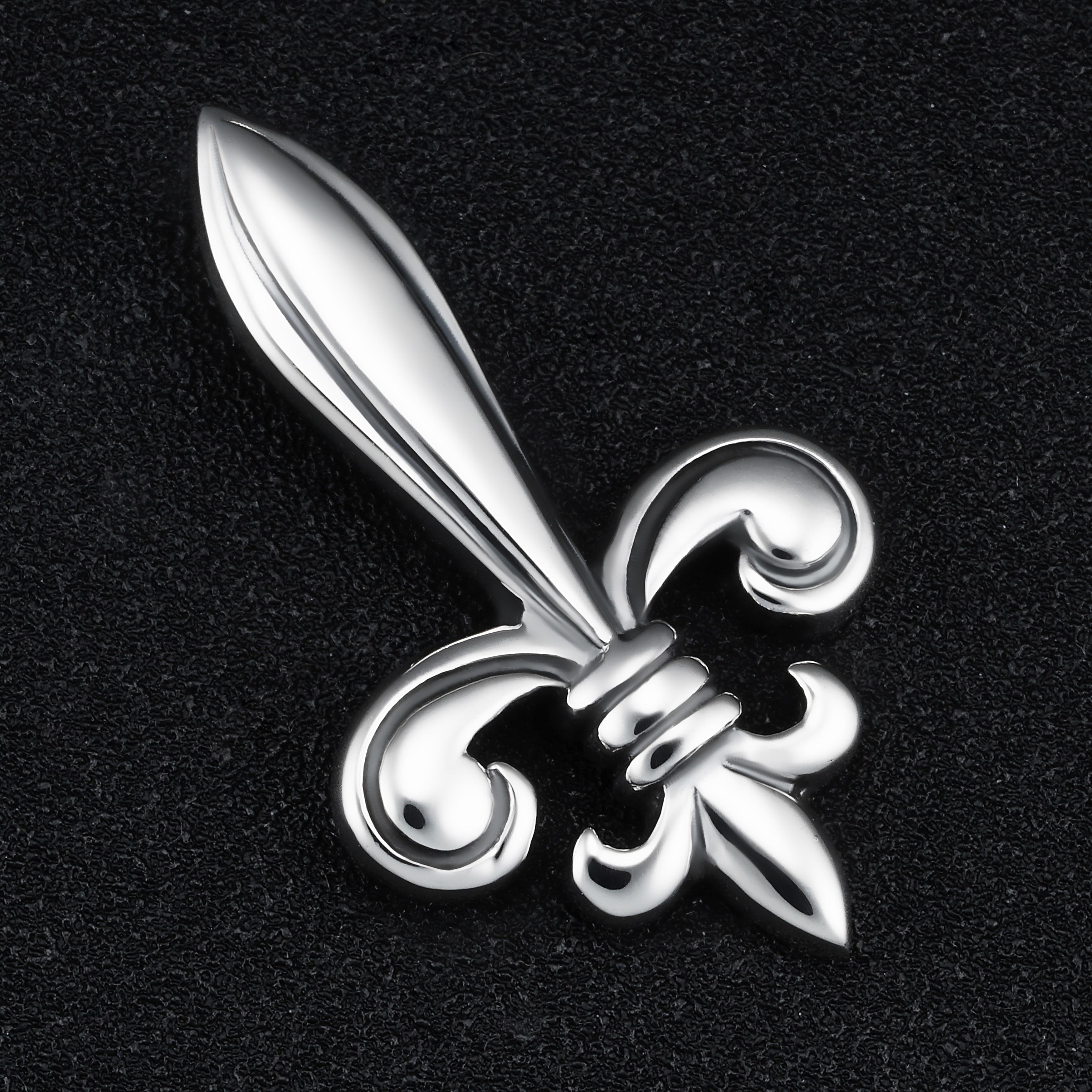 FLEUR DE LIS CURB LINK STERLING 925 SILVER RING NEW HANDMADE JEWELRY