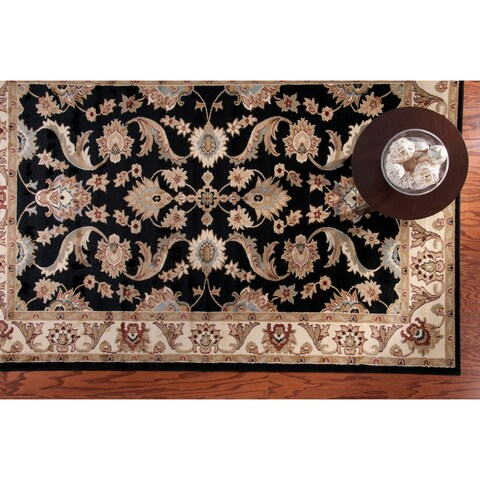 LR Home Adana Black/ Cream Rug (7'9 x 9'9) - 7'9 x 9'9
