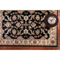LR Home Adana Black/ Cream Rug (7'9 x 9'9) - 7'9 x 9'9