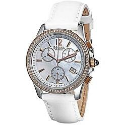 Golana Swiss Women's 'Aura Pro 200' Two-tone Case Leather Strap Watch