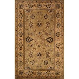 Hand-tufted Agra Ivory Wool Rug (3'4 x 5'4)