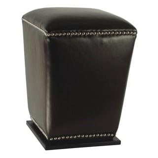 Safavieh Mason Storage Black Bi-cast Leather Ottoman