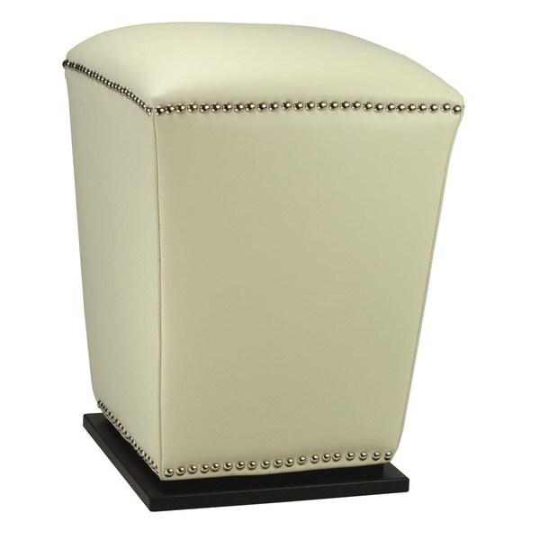 Safavieh Mason Storage Off White Bi-cast Leather Ottoman