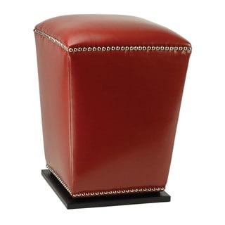 Safavieh Mason Red Bi-cast Leather Ottoman