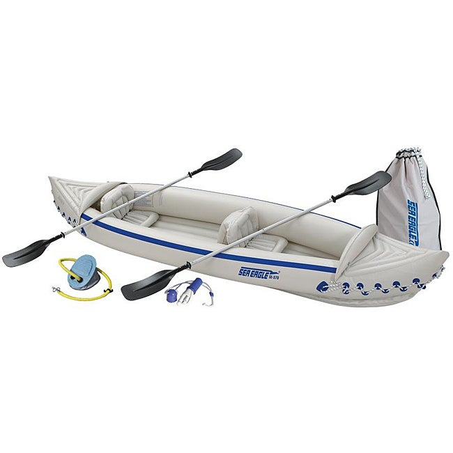 Sea Eagle SE370 Deluxe Inflatable Kayak, White