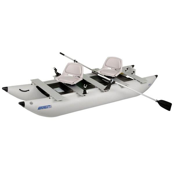 Sea Eagle FoldCat 375FC Classic Deluxe Foldable Pontoon Boat
