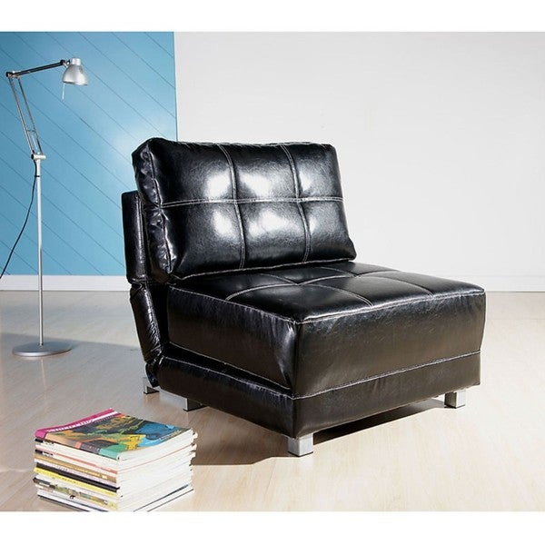 New York Black Convertible Chair Bed