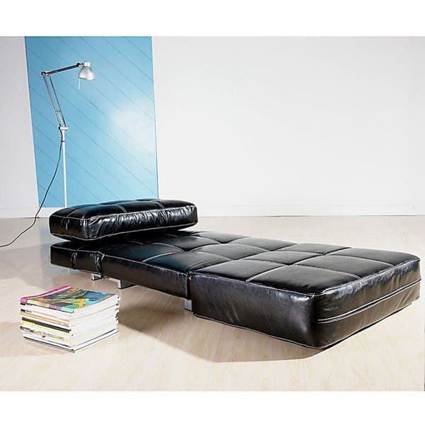Fabulous Shop New York Black Convertible Chair Bed Free Shipping Pdpeps Interior Chair Design Pdpepsorg