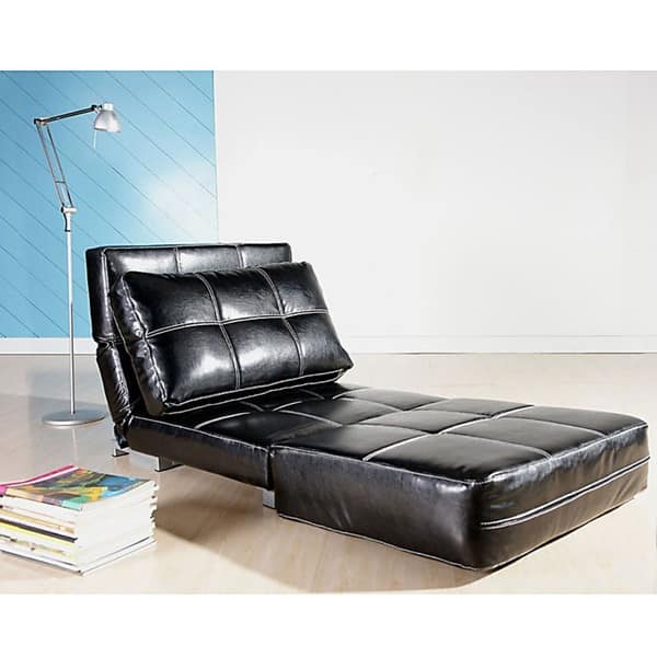 Awesome Shop New York Black Convertible Chair Bed Free Shipping Pdpeps Interior Chair Design Pdpepsorg