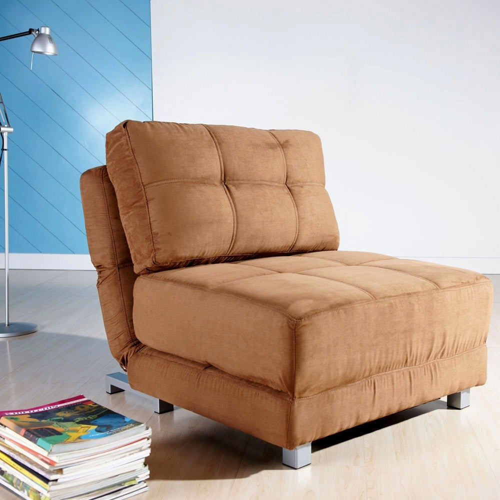SMP New York Brown Convertible Chair Bed (CCB-NYK-MFX-BRN...