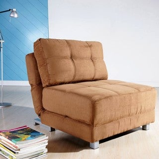 New York Brown Convertible Chair Bed