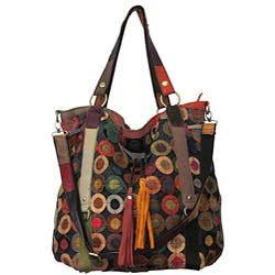 Amerileather 'Lloyd' Multicolor Leather Tote|https://ak1.ostkcdn.com/images/products/4796986/Amerileather-Lloyd-Multicolor-Leather-Tote-P12693976.jpg?impolicy=medium