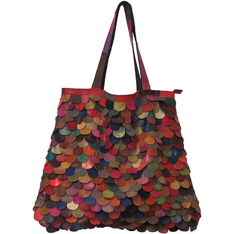 Amerileather Multicolor Kaleidoscope Tote