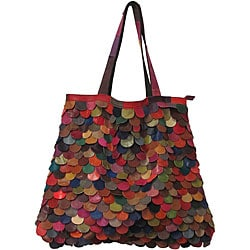 Amerileather Multicolor Kaleidoscope Tote