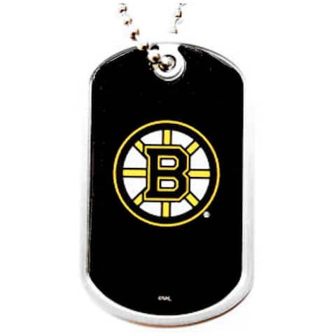 Boston Bruins Dog Tag Necklace