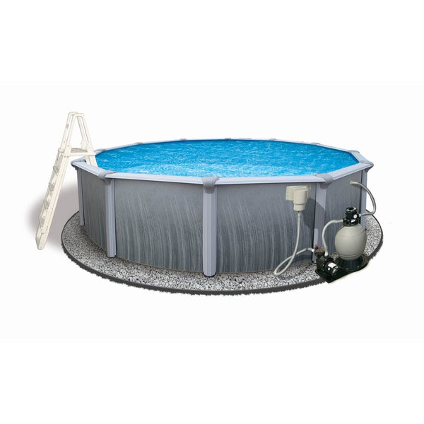 Martinique 24 Foot Round Above Ground Pool Free Shipping Today 12695190