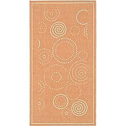 Safavieh Ocean Swirls Terracotta/ Natural Indoor/ Outdoor Rug (4' x 5'7)