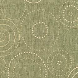 Safavieh Indoor/ Outdoor Ocean Olive/ Natural Rug (8' x 11')